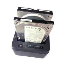 USB 3.0 a SATA Dual de Doble Bahía Externa Adaptador de Disco Duro Estación de Acoplamiento para 2.5 o 3.5 pulgadas HDD SSD