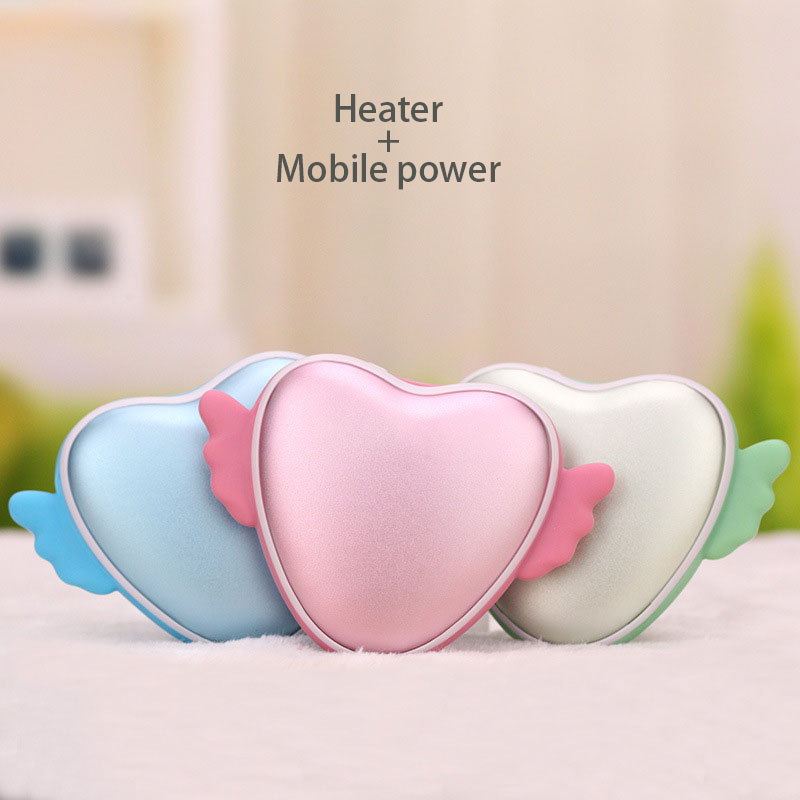Mobile Power Handwarmer PTC ceramic heating Mini Electric Heater Explosion Warm Love Angel Usb Charging Warm Baby Fever