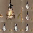 Retro Edison Lampshade Vintage Pendant Trouble Light Bulb Guard Cage Ceiling Hanging Lampshade NEW