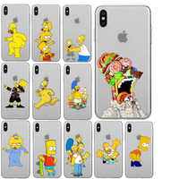 Los Simpson Suave De Tpu Caso Para per Il Iphone 11 11Pro 5S Se 6 Xs Max 7 8 Più xr Divertido Fundas De Silicona De Alta Calidad