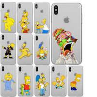 Los Simpson suave de TPU caso para iPhone 11 11Pro 5S SE 6 XS Max 7 8 Plus XR divertido Fundas de silicona de alta calidad