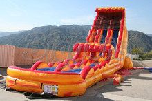 FREE SHIPPING BY SEA Giant Outdoor Commercial Inflatable Slide ,Inflatable Slide With Bounce House For Kids
