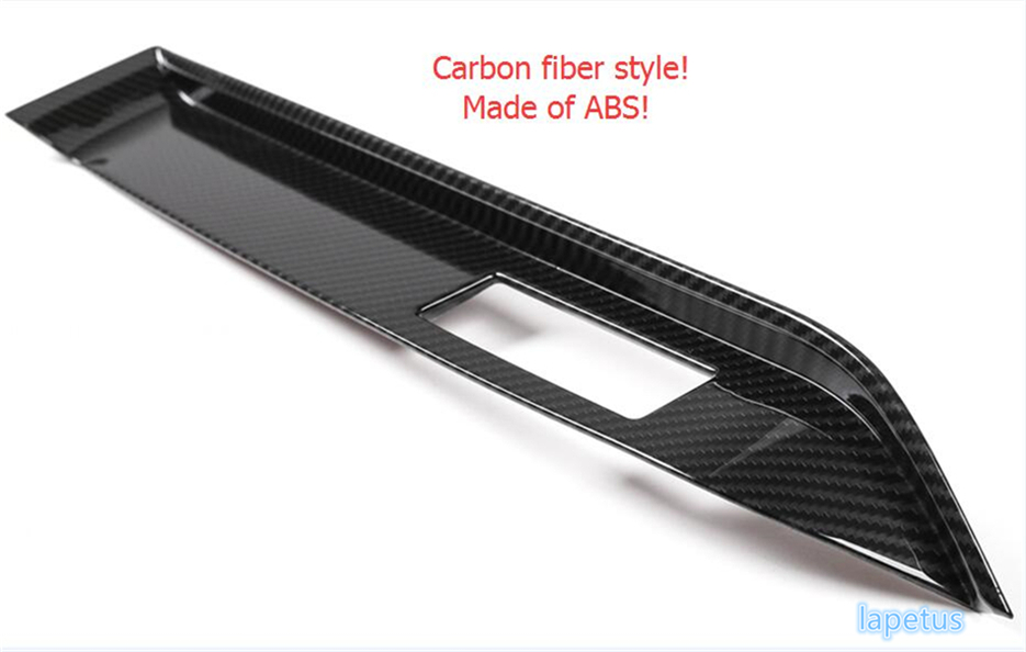 Lapetus For Ford Mustang 2015 2016 2017 ABS High Quality Co-pilot Instrument Decoration Panel Cover Trim Carbon Fiber Style accessories for chevrolet camaro 2016 2017 abs carbon fiber style the co pilot central control strip molding cover kit trim page 2
