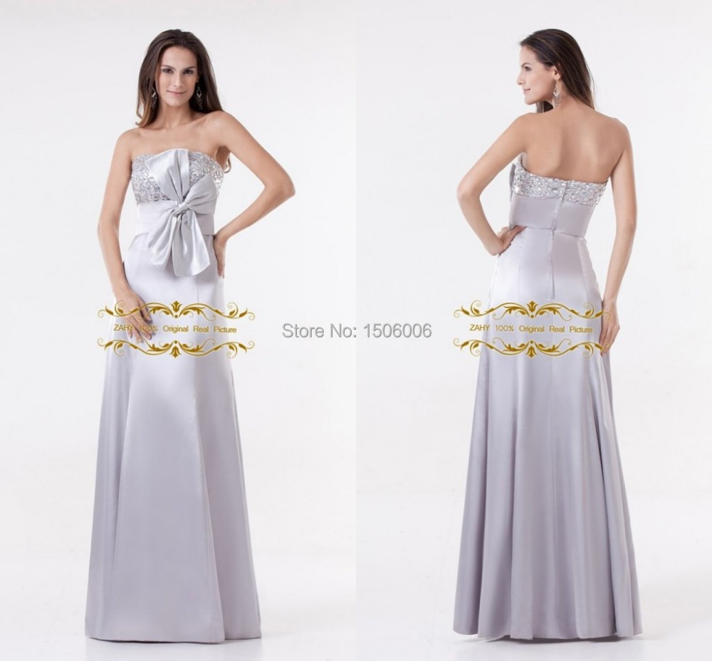 Popular silver bridesmaid dress buy cheap silver for Silver wedding dresses for sale