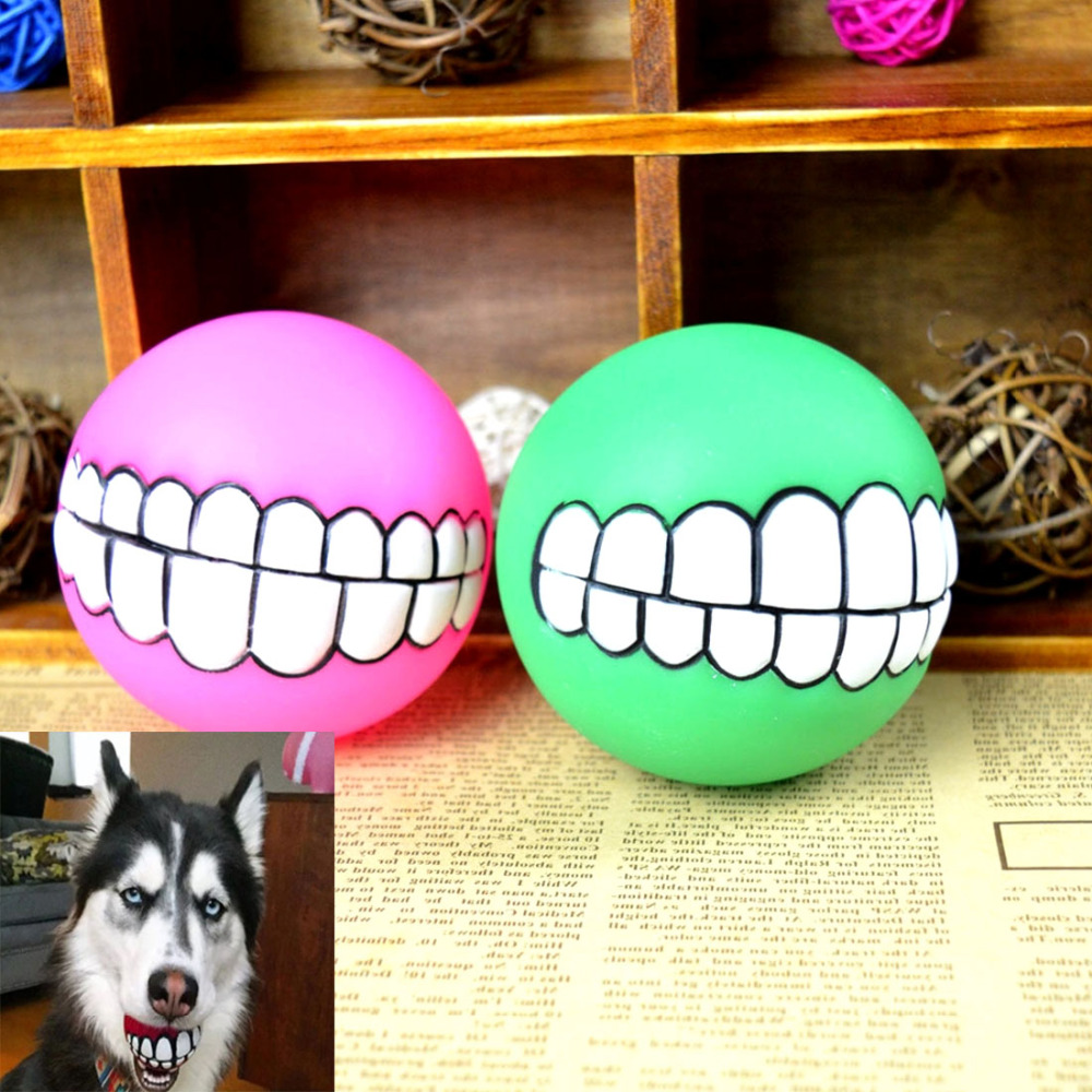 1pcs New Cute Pet Dog Ball Teeth Durable Toy Chew Sound Novelty Play Toys Mini Kids Toy Ball Outdoor Supplies Random Color