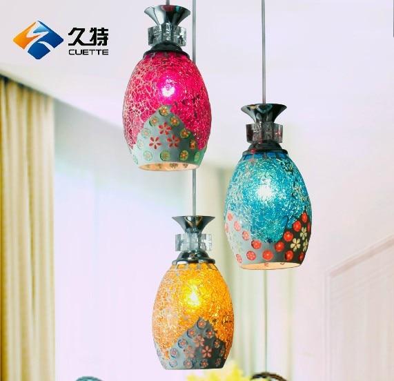 EMS FREESHIPPING Mosaic restaurant lamp pendant light bedroom lamp living room lights child light stair Pendant LAMP