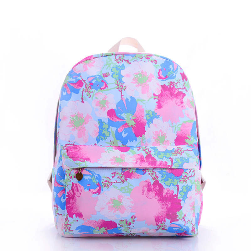 Women Canvas Backpack School Bagflower Print College Bags Backpacks Pretty In From Luggage On