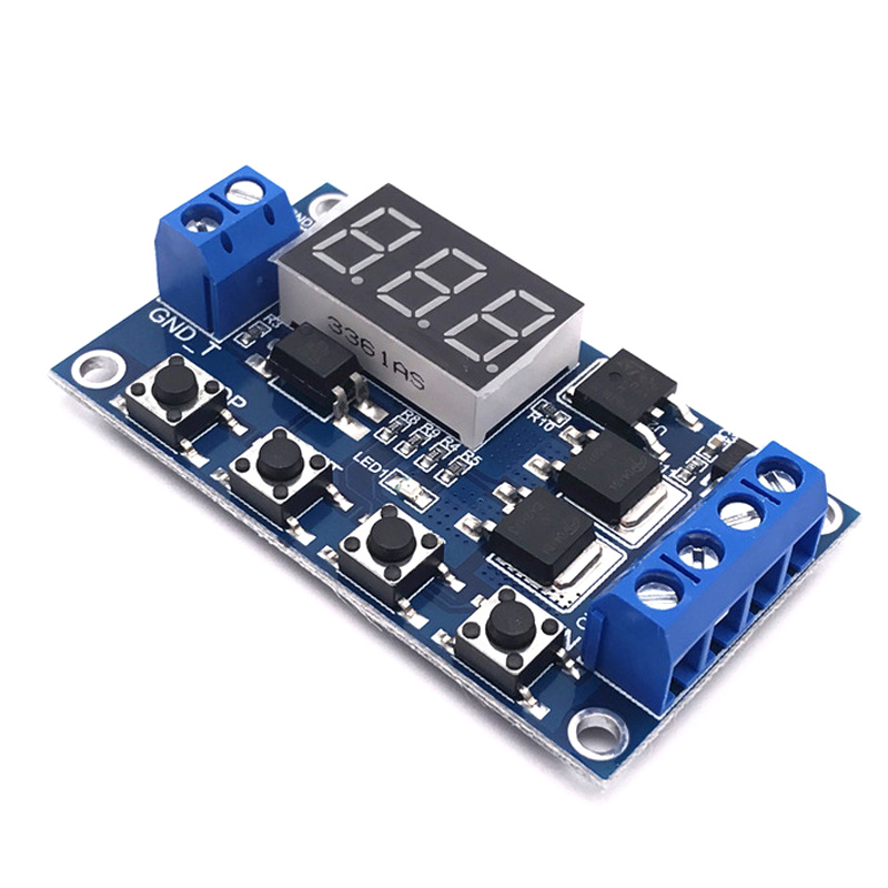 Trigger Cycle Timer Delay Switch DC 12 24V Circuit Board MOS Tube Control Module ALI88 dc 12v led display digital delay timer control switch module plc automation new