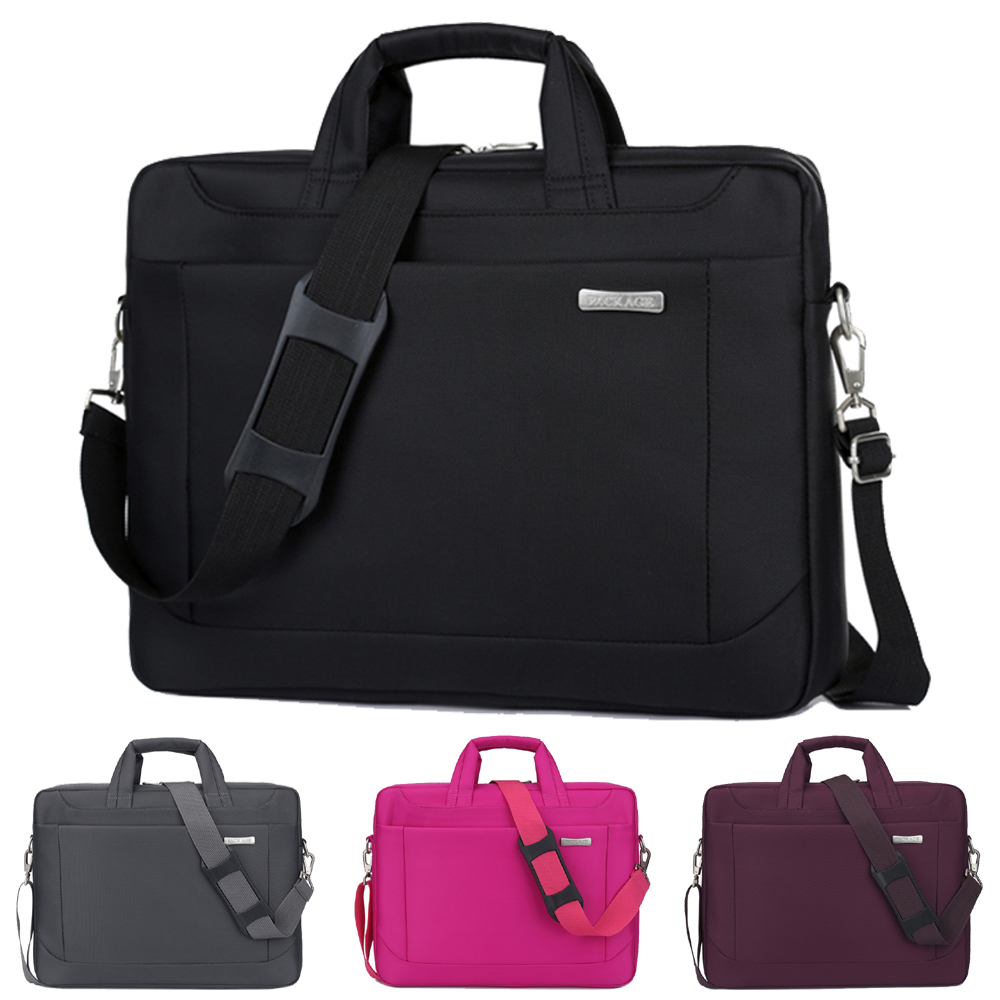 14 15 15.6 17 17.3 Inch Waterproof Nylon Computer Laptop Solid Notebook Tablet Bag Bags Case Messenger Shoulder for Men Women
