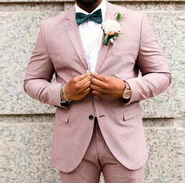 ANNIEBRITNEY 2019 リネン男性スーツ古典的な夏のジャケットの男性が結婚式スマートカジュアルビーチウェディングブレザースリムフィットジャケットパンツ