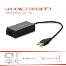 Game Accessories 100Mbps For Nintend Switch NS NX Console LAN Connection Adaptor For Wii WII U LAN Connection Adaptor 100Mbps