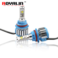 ROYALIN Auto Head Light Led Lamps H1 H3 H4 H7 H8 9005 9006 H27 White Color