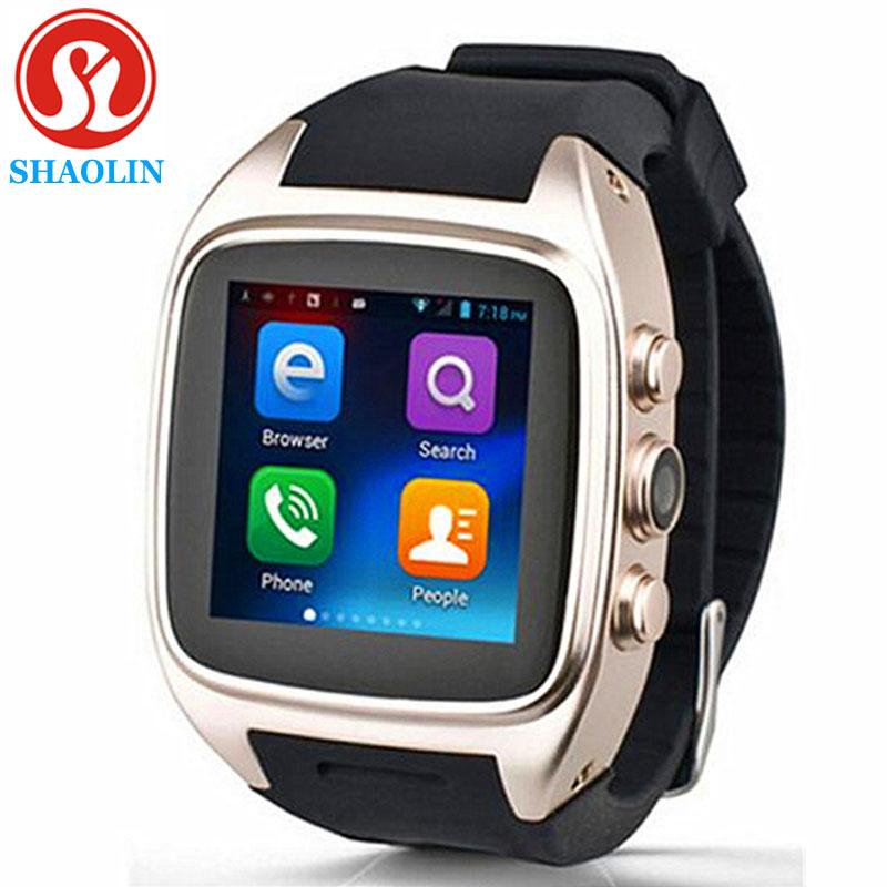Prix pour SHAOLIN Android Smart Watch Bluetooth SmartWatch avec GPS + 3G + WiFi + GPRS pour Android Téléphone PK LEM5 Smart électronique Montres Intelligentes