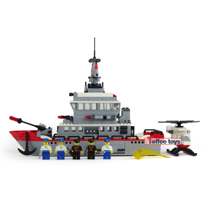 490pcs Military Naval Ship Toy Military Building Blocks Escort Warship Bricks Enlighten Toy Children Gifts  for Boys K0424-31002 ford escort в спб