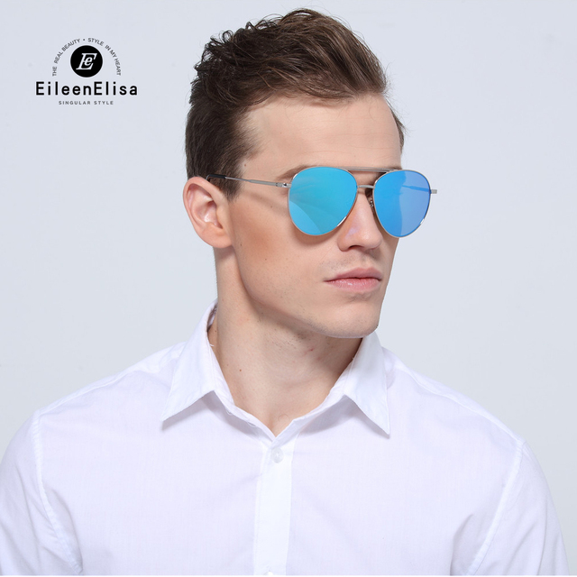 Fashion Sunglasses Men Brand Designer Vintage Mirror Sunglasses 2017 EE Latest Fashion Mens Sunglasses