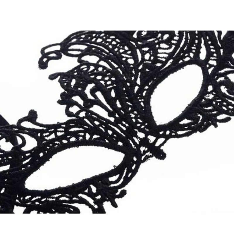 1 PC 블랙 컷 아웃 아이 마스크 여자 여자 섹시 레이디 레이스 마스크 가장 무도회 파티 멋진 드레스 의상