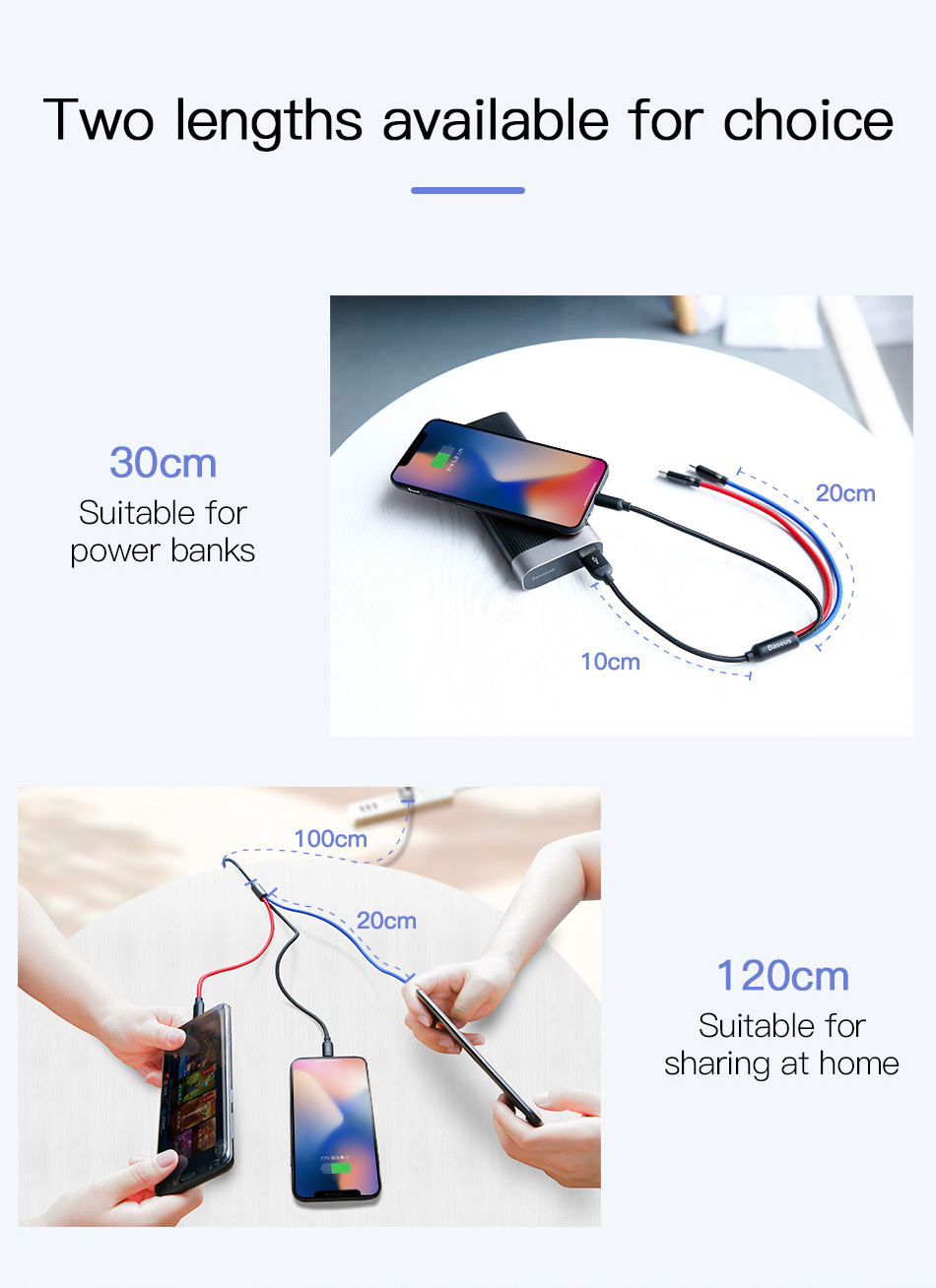 Baseus 3in1 USB Cable for Mobile Phone Micro USB Type C Charger Cable for iPhone Samsung 6 Charging Cable Micro USB Charger Cord 25