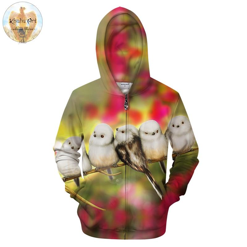 Cute Morning by KhaliaArt Zipper Hoodies Sweatshirts Men Zip Up Hoodie Unisex Animal Tracksuits Brand Pullover Drop Ship ZOOTOP