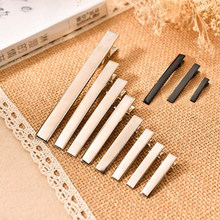 10pcs 32/35/40/45/55/65/75mm Length Hair Jewelry Settings Blank Base for DIY Alligator Clip Hairpins Jewelry Findings Components(China)