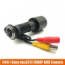Дешевые 1080 P Дверь отверстия глаз AHD мини домашнего видео глазок Камера SONY323 StarLight 0,0001 Lux 170 градусов Камеры скрытого видеонаблюдения