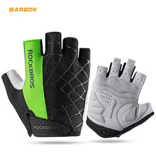 ROCKBROS Motorcycle Gloves Half Finger Shockproof Breathable MTB Mountain Bicycle Gloves Men Women Cycling Ride Sports Glove rockbros cycling bike half finger gloves shockproof breathable mtb mountain bicycle gloves men women sports cycling clothings