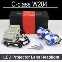 Hi Low LED Projector headlight lens Cho Mercedes Benz C class W204 với halogen headllamp CHỈ Trang Bị Thêm Nâng Cấp (2008-2015)