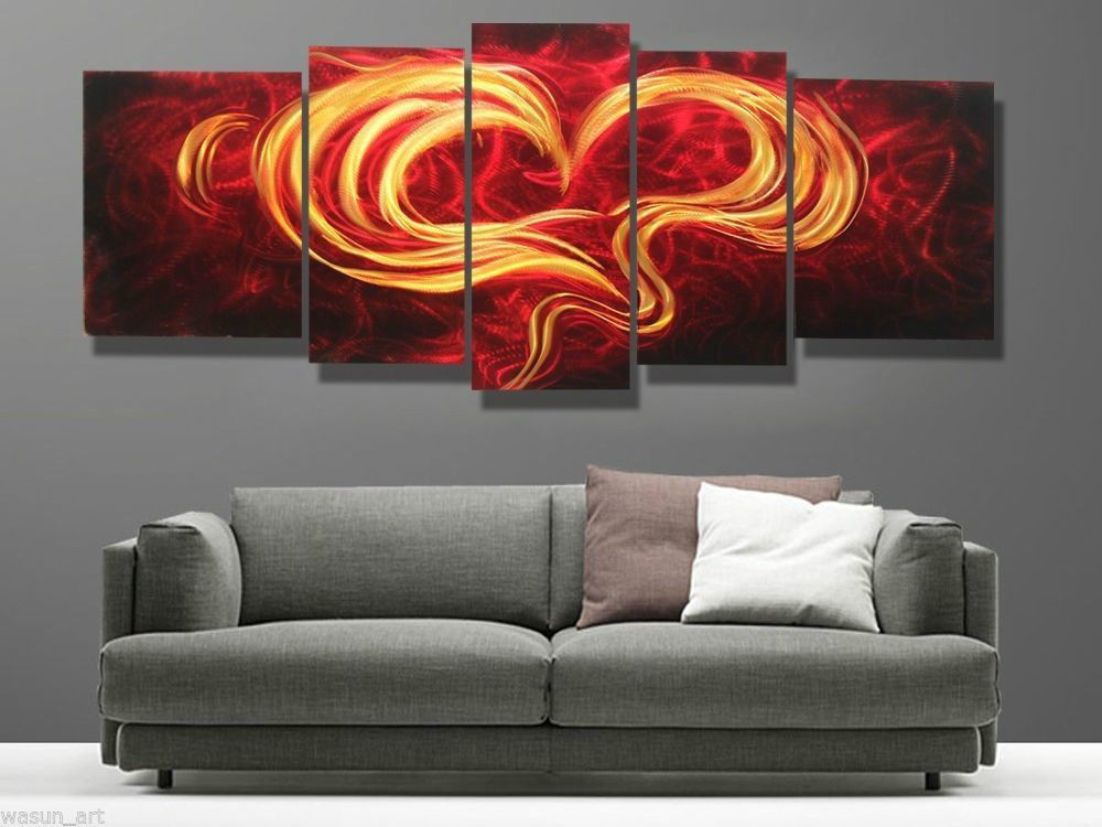 Modern contemporary abstract painting metal wall art sculpture wall hanging deco in painting - Deco modern voorgerecht ...