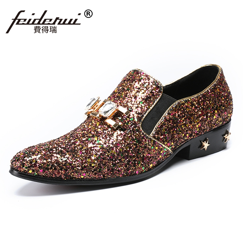 Plus Size Luxury Formal Pointed Toe Slip on Man Wedding Loafers Genuine Leather Height Increasing Banquet Party Mens Shoes SL210 luxury pointed toe rivet casual shoes england designer party and banquet men loafers fashion young man walking street shoes