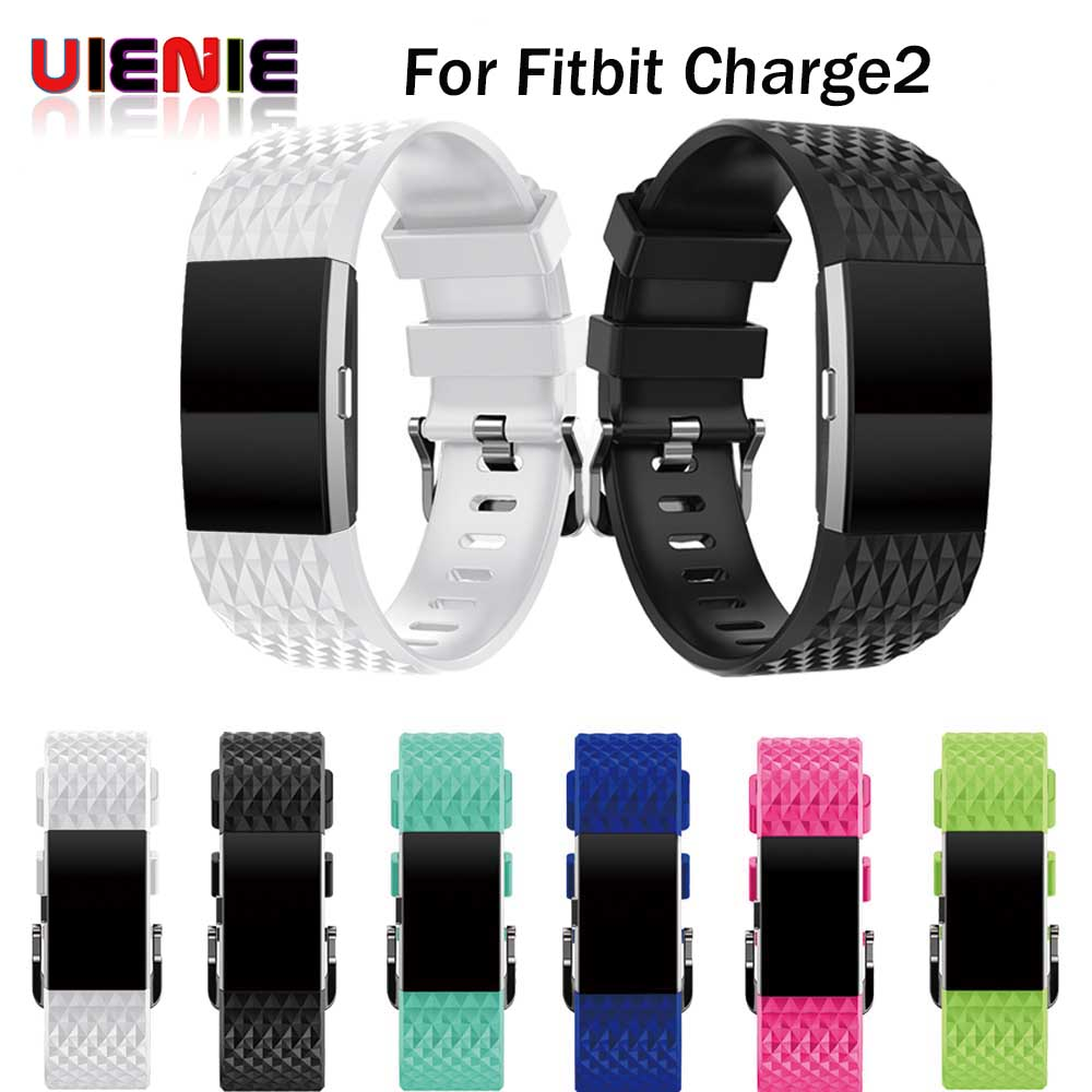 Watchband Replacement Strap Bracelet Soft 3D Silicone Watch Band Wrist Strap For Fitbit Charge 2 Band Charge2 Heart Rate Smart