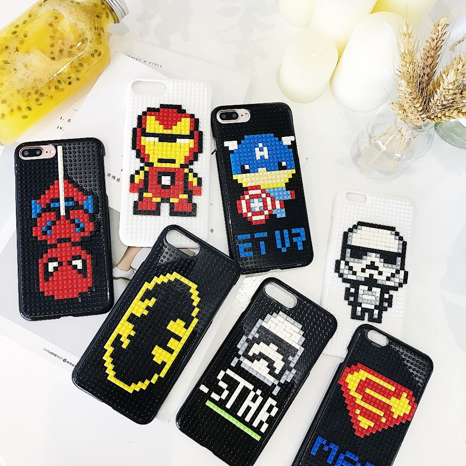 Super Hero Puzzle Phone Cover For iPhone 7 Case Lego DIY Blocks Jigsaw Pattern Coque For 960x960