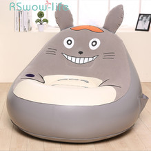 Cartoon Chinchilla Inflatable Sofa Folding Tatami Bedroom Balcony Lounge Chair Small Sofa Lounger Chair Seat Cushion 4085 single modern minimalist creative small sofa nap bed deck chair inflatable sofa chair