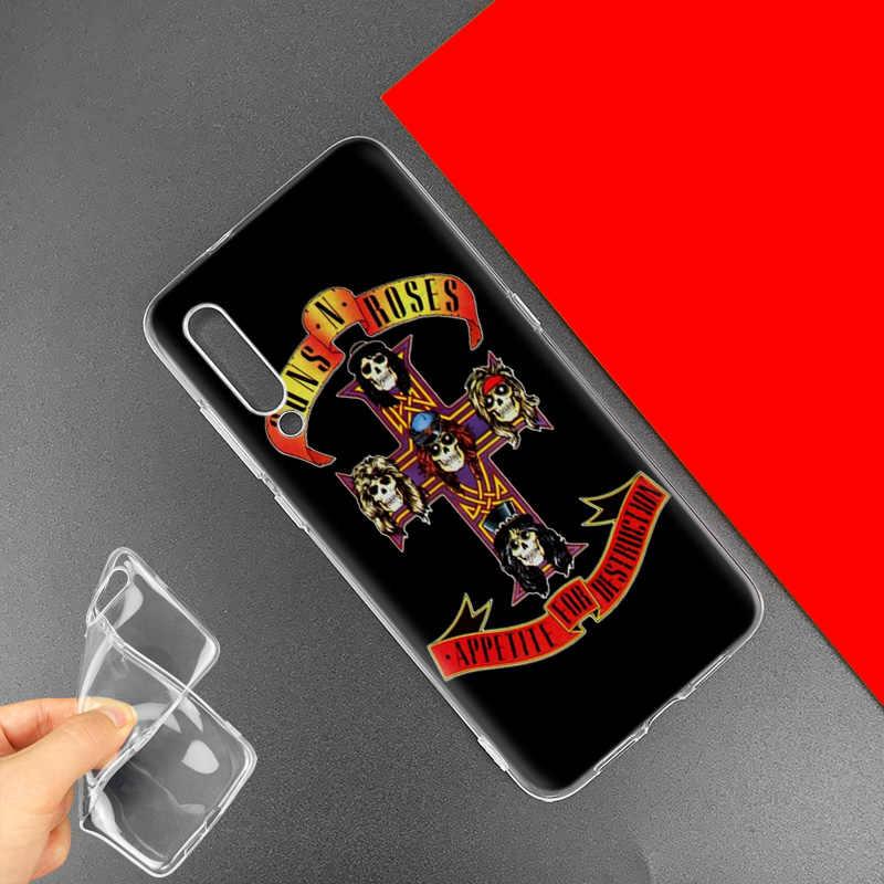 Guns N ורדים מקרה עבור שיאו mi אדום mi הערה 8 8T 9S 7 9 פרו 7A K30 זום MI 10 5G CC9 9T 9T A3 Poco X2 F2 סיליקון כיסוי טלפון תיק