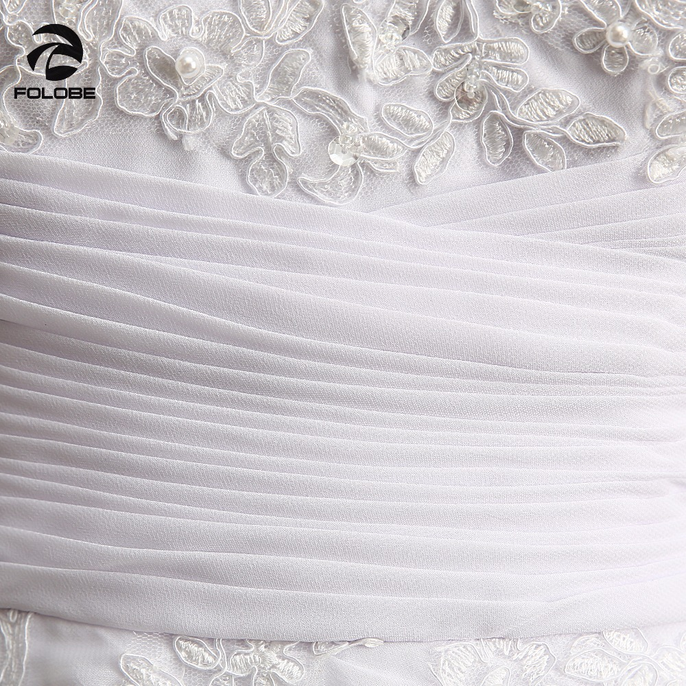 V-neck Beads Lace Backless Pleats Chiffon A-line Beach Long Wedding Dress