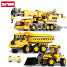 KAYGOO Children educational toys City cars crane Truck DIY Building block sets Christmas gift Enlighten(China)