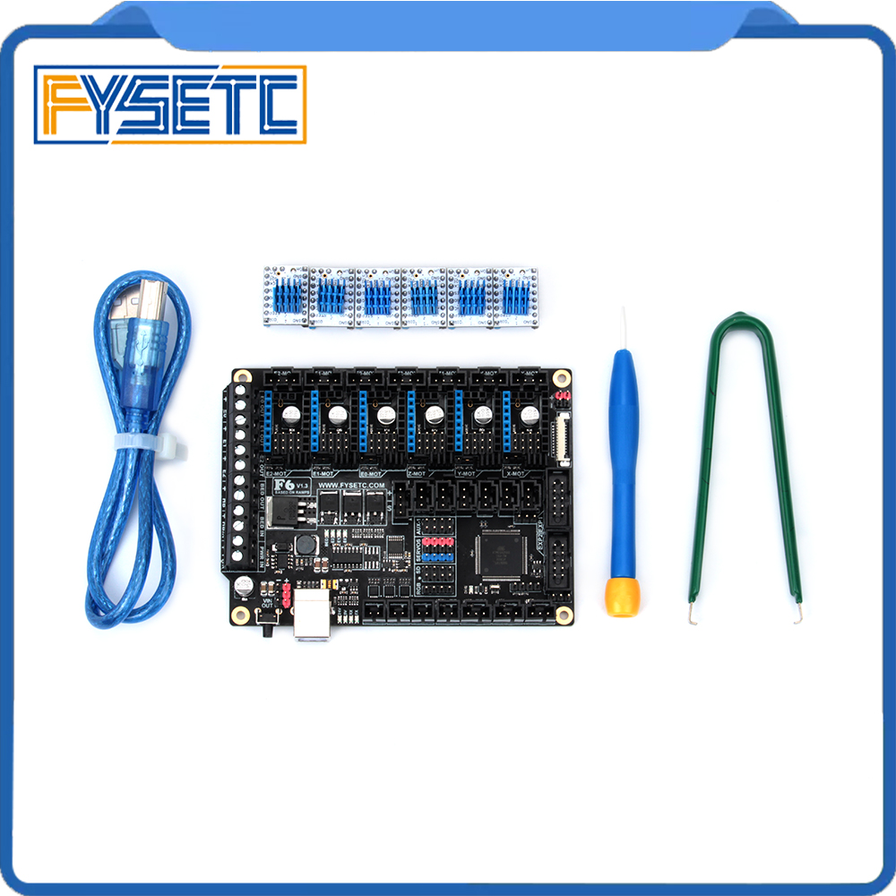 FYSETC F6 V1.3 Board ALL-in-one Electronics Solution With 6pcs Special TMC2130 V1.2 (opinion) For SPI Flying Wire VS SKR V1.3FYSETC F6 V1.3 Board ALL-in-one Electronics Solution With 6pcs Special TMC2130 V1.2 (opinion) For SPI Flying Wire VS SKR V1.3