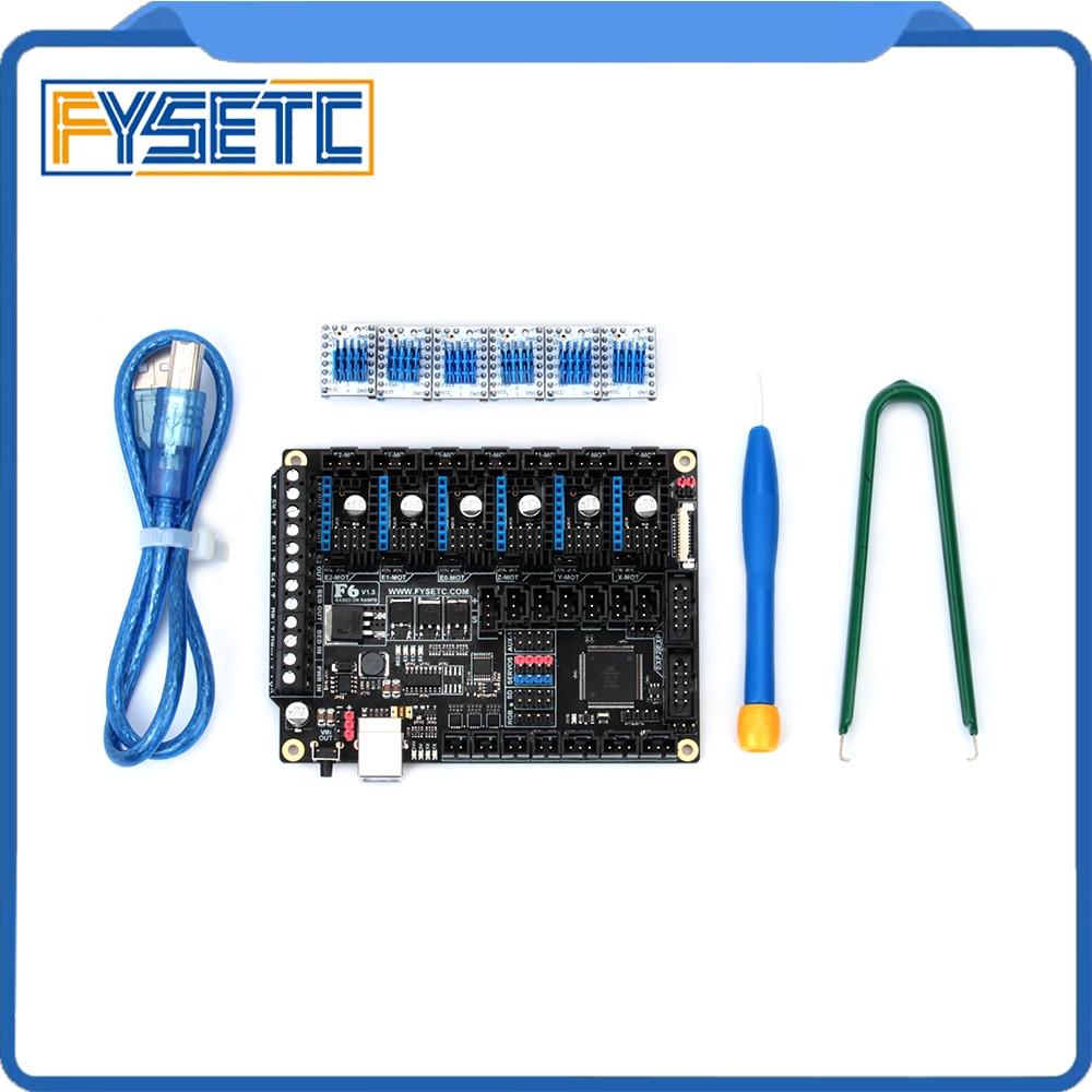 FYSETC F6 V1.3 Conseil TOUT-en-un de La Solution Électronique Avec 6 pcs Spécial TMC2130 V1.2 (avis) pour SPI Fonction Voler Grillage