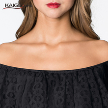 Kaige Nina Women Dress summer Bodycon Dresses with lace Plus Size Chic Elegant off shoulder  Evening Party Dresses 9023