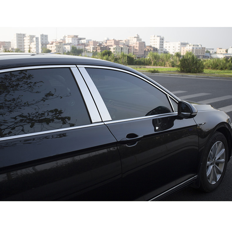 lsrtw2017 304 stainless steel car window trims for volkswagen passat b8 2016 2017 2018 new arrival for lexus rx200t rx450h 2016 2pcs stainless steel chrome rear window sill decorative trims