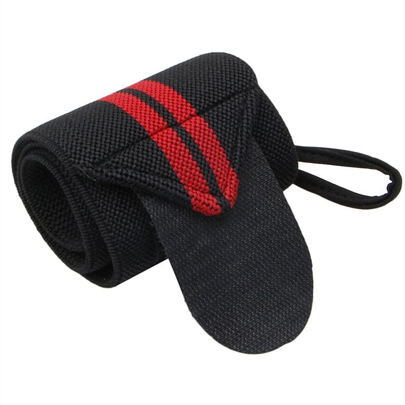 Спортивный ремешок на запястье для тяжелой атлетики, фитнес-зал, повязка на руку, поддерживающий браслет, распродажа - Цвет: 2S10038-BKR