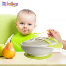 New Baby Tableware Learning Dishes Children Tableware Baby Plate With Suction feeding Bowl Silicone Spoon Infant Dishes