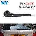 13 pulgadas Juego de Escobillas Limpiaparabrisas Trasero Y el Brazo para VW Golf MK 5 V 2003-2008 Caucho De Silicona Coche Limpiaparabrisas Parabrisas Accesorios RVW17-5A/B
