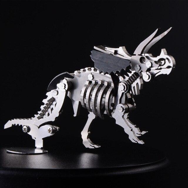 3D Металлические Головоломки Сборка Съемный Модель Парк Юрского Периода Динозавров Triceratops Оригинальность Игрушки Для Детей Творческий Подарок TK0136