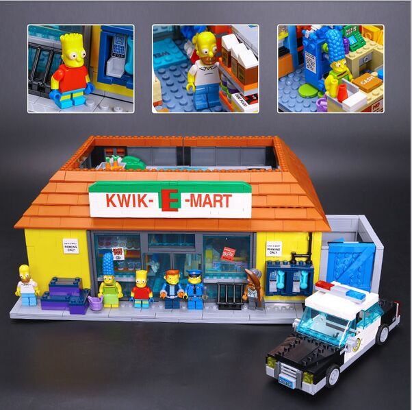 New LEPIN 16004 2232Pcs the Simpsons KWIK-E-MART Action Model Building Block Bricks Compatible 71016 Boy gift lepin 22001 pirate ship imperial warships model building block briks toys gift 1717pcs compatible legoed 10210