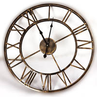 18 inches Antique Metal Wall Clock with Bronze Finished Artificial Decorative Clocks