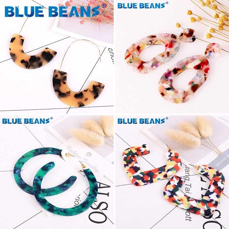Acrylic Earrings for Women Colorful Acetate Earings African Bohemia Face Dangle Jewelry Statement wholesale Leopard Boho Resin