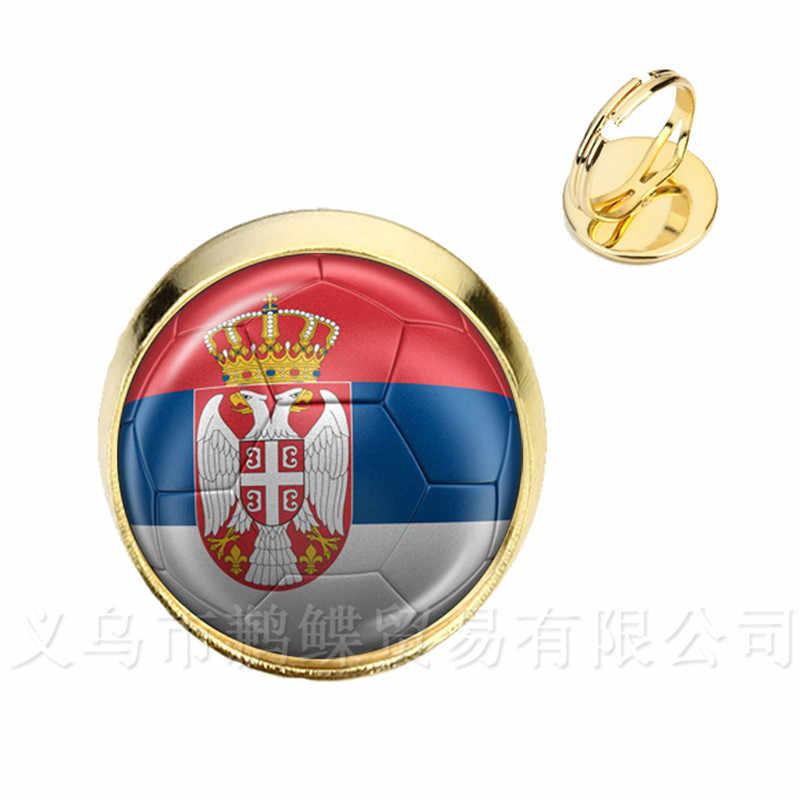2018 Новое футбольное кольцо кубки мира Национальный флаг Франция, Англия, Иран, Испания, Uruguay, Tunisia, Saudi Arabia, Senegal, футбольный сувенир