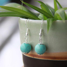Bohemian ethnic jewelry wholesale natural turquoise earrings 006