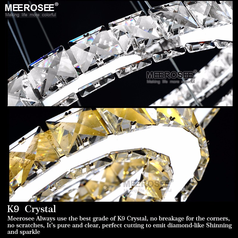 Hot sale Diamond Ring LED Crystal Chandelier Light Modern Lamp Led Strip 100 Guarantee lamparas de techo colgante moderna in Chandeliers from Lights Lighting