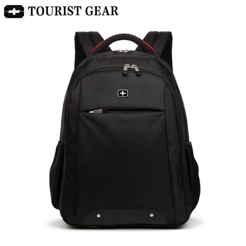 Us 27 55 36 Off Black Bagpack Men Mochila Swiss Backpacks Travel Bag Tourist Gear 15 6 Inch Laptop Business Backpack Vintage School Bags In