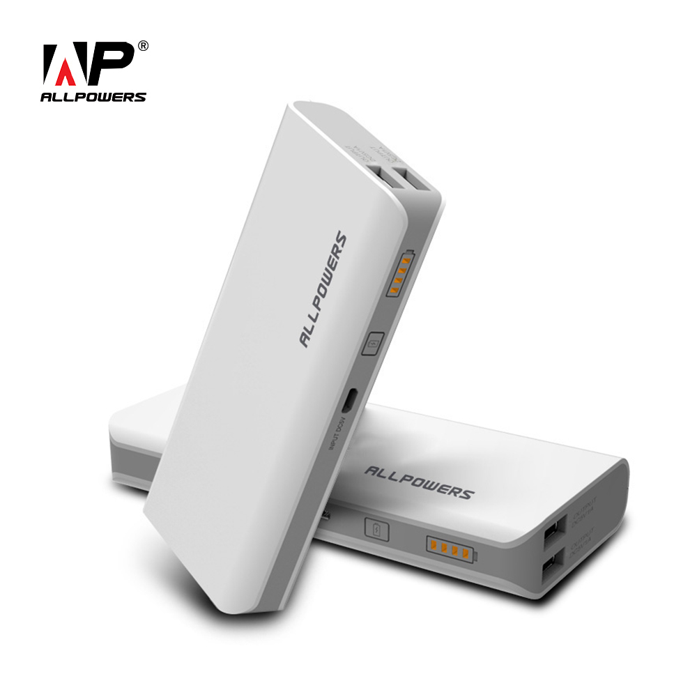 ALLPOWERS 15600mAh Phone Charger Power Bank Portable External Battery Dual USB for Cellphone Tablets iPhone Samsung LG Xiaomi LG